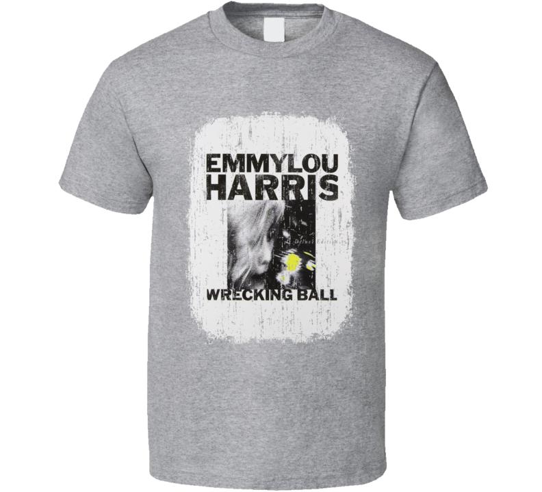 Emmylou Harris Wrecking Ball 1995 Country Album Grunge Cover T Shirt