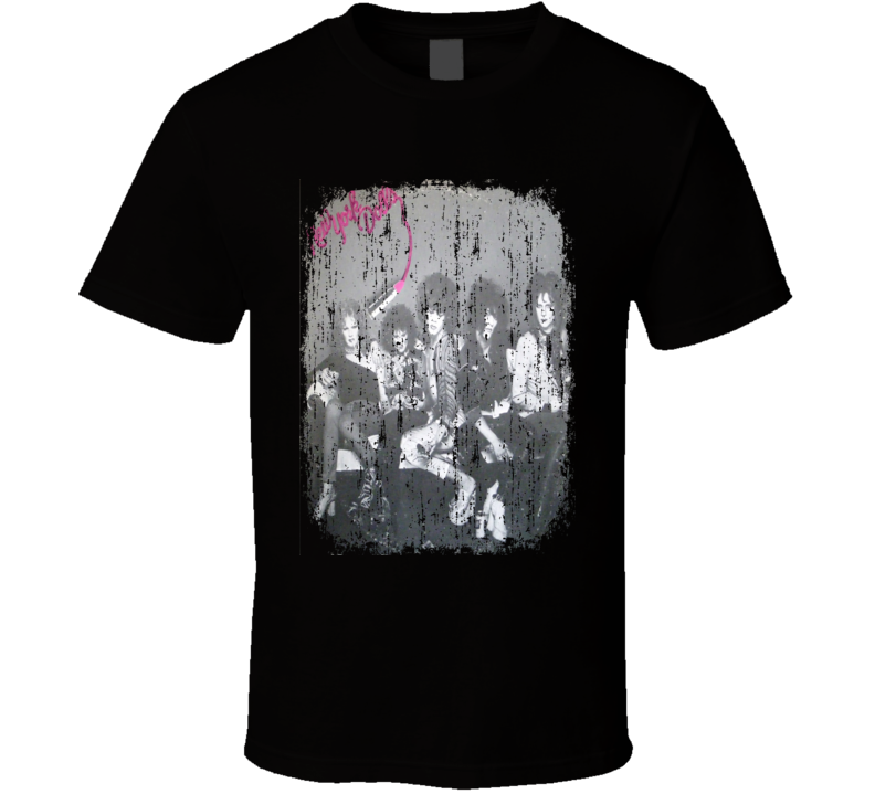New York Dolls 1973 Cool Punk Album Worn Look Cover T Shirt