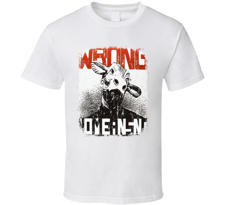 NoMeansNo Wrong 1989 Cool Punk Album Worn Look Cover T Shirt