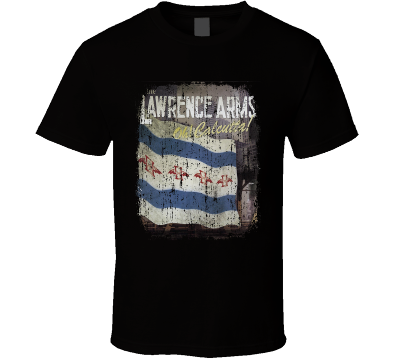The Lawrence Arms Oh Calcutta 2006 Punk Album Worn Look Cover T Shirt