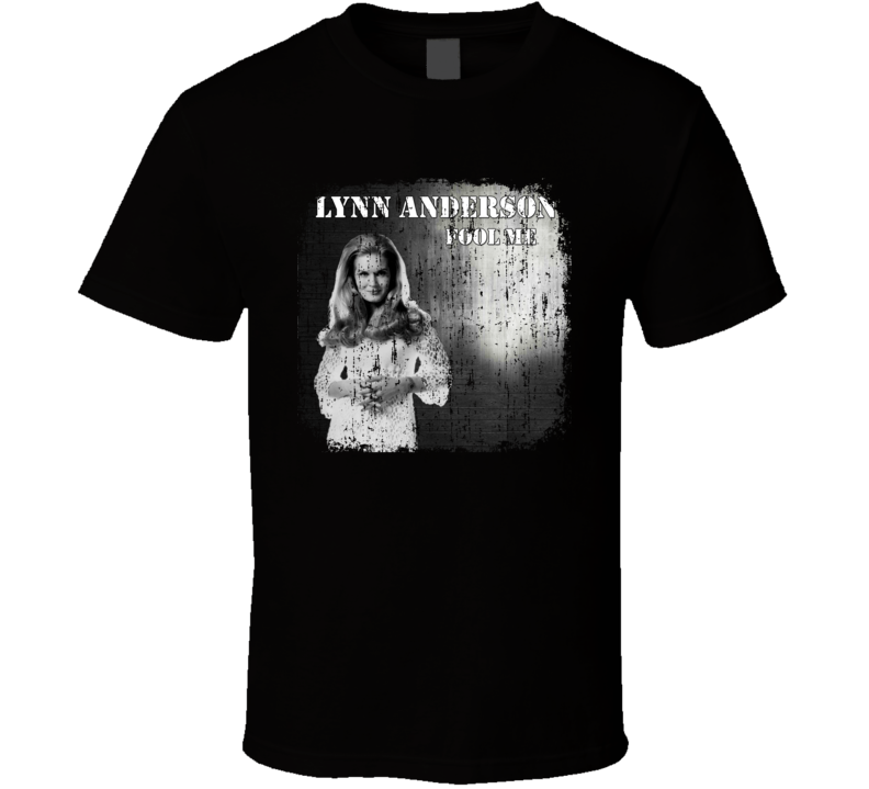 Lynn Anderson Great Country Music Cool Artist Worn Look T Shirt