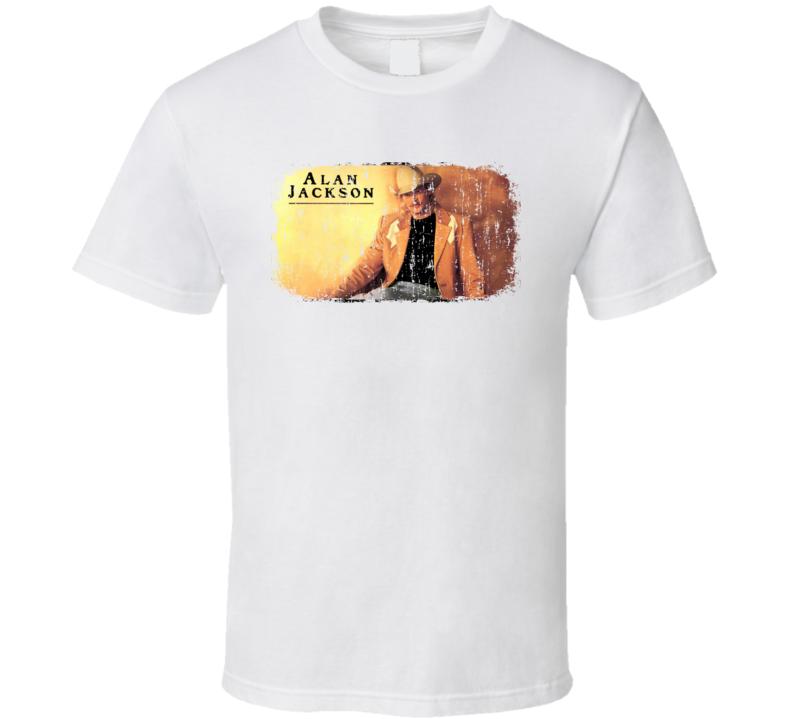 Alan Jackson Great Country Music Cool Artist Worn Look T Shirt