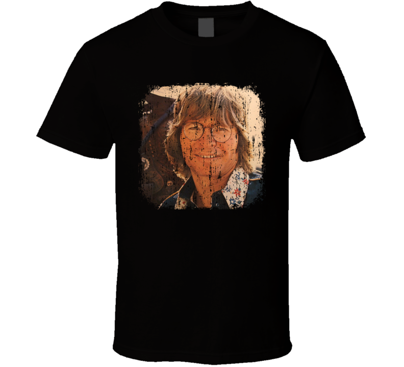John Denver Great Country Music Cool Artist Worn Look T Shirt