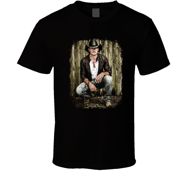 Tim McGraw Great Country Music Cool Artist Worn Look T Shirt