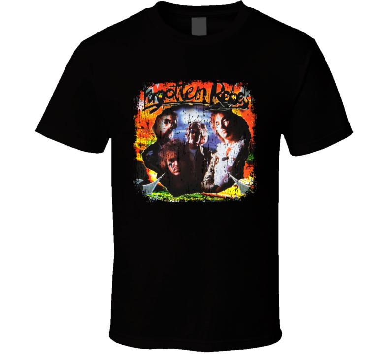 Forgotten Rebels Punk Rock Band Cool Worn Look Music T Shirt