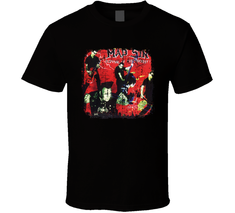 Mad Sin Punk Rock Band Cool Worn Look Music T Shirt