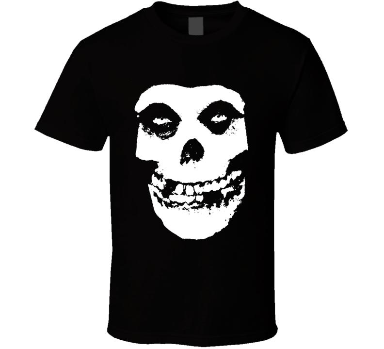 Misfits Punk Rock Band Cool Logo Worn Look Music T Shirt