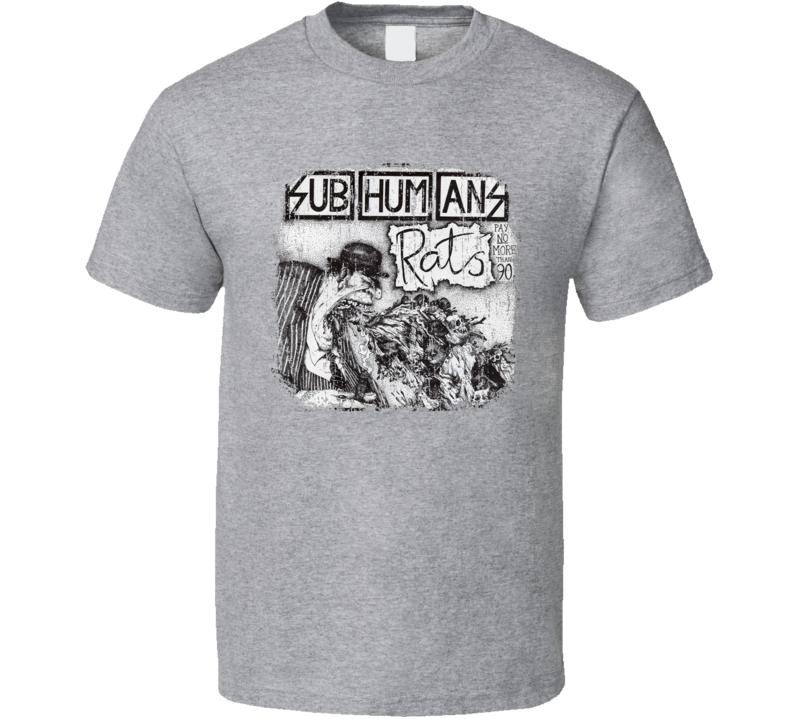 Subhumans Punk Rock Band Cool Worn Look Music T Shirt