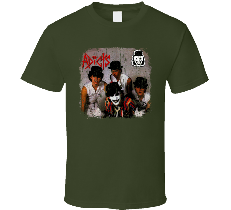 The Adicts Punk Rock Band Cool Worn Look Music T Shirt