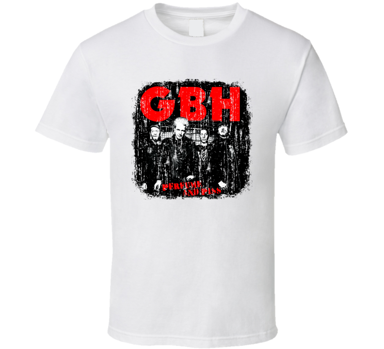 G.B.H Punk Rock Band Cool Worn Look Music T Shirt