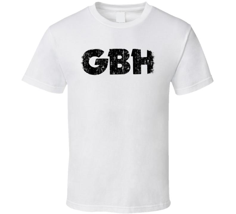 G.B.H Punk Rock Band Cool Logo Worn Look Music T Shirt
