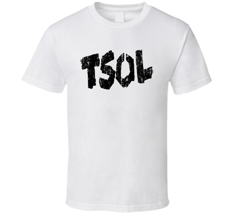 T.S.O.L. Punk Rock Band Cool Logo Worn Look Music T Shirt