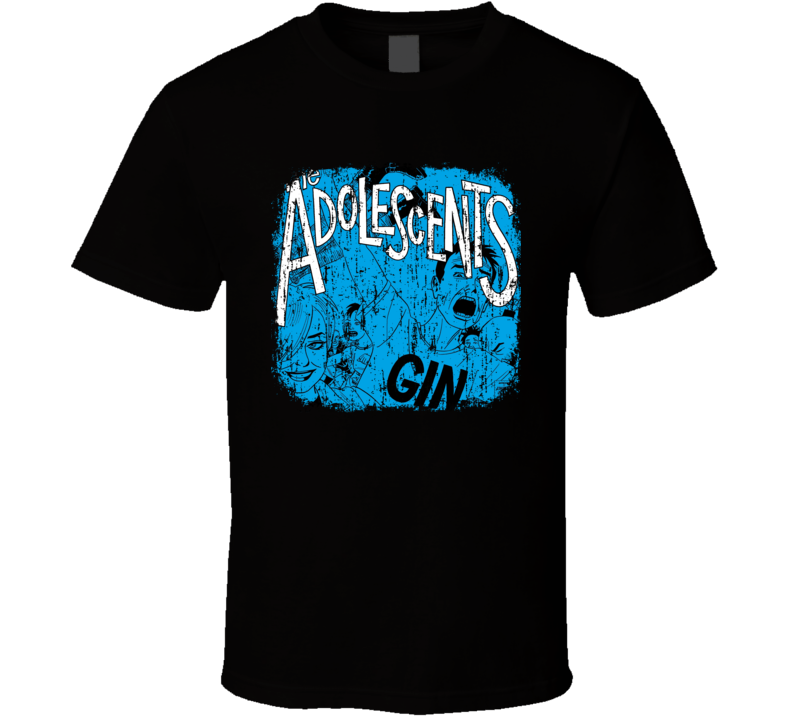Adolescents Punk Rock Band Cool Worn Look Music T Shirt