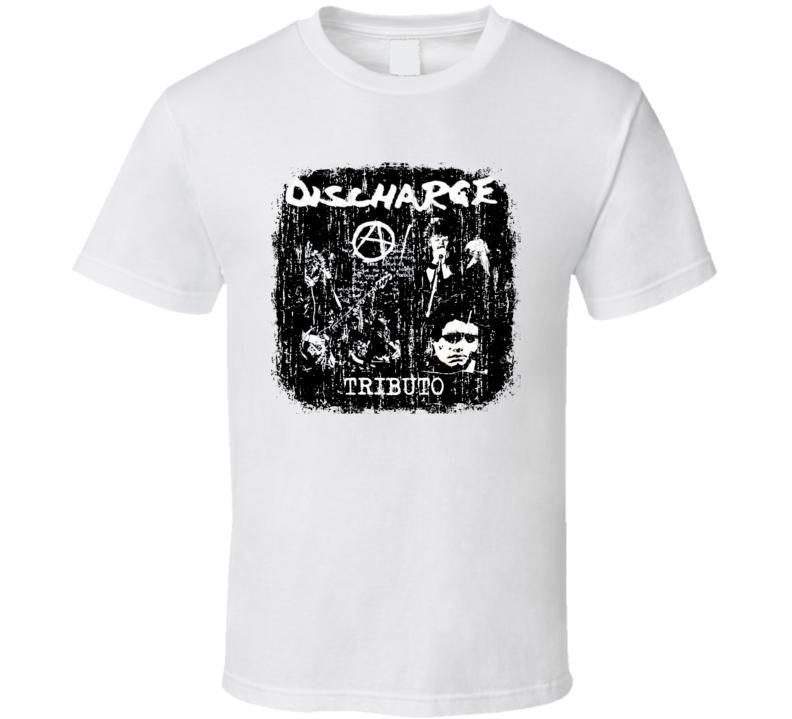 Discharge Punk Rock Band Cool Worn Look Music T Shirt