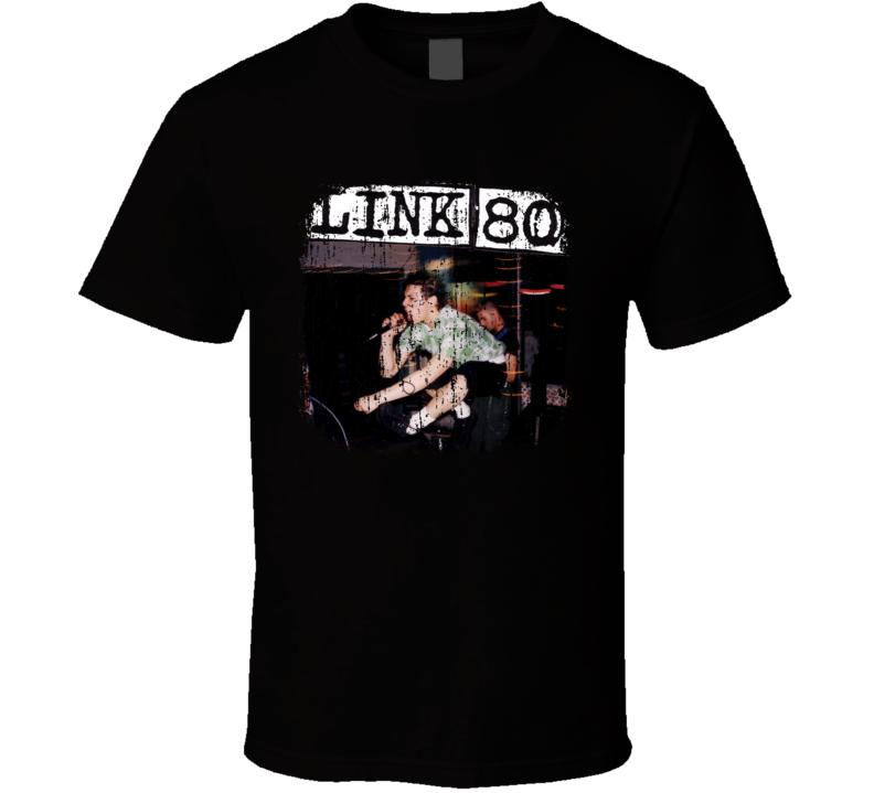 Link 80 Punk Rock Band Cool Worn Look Music T Shirt
