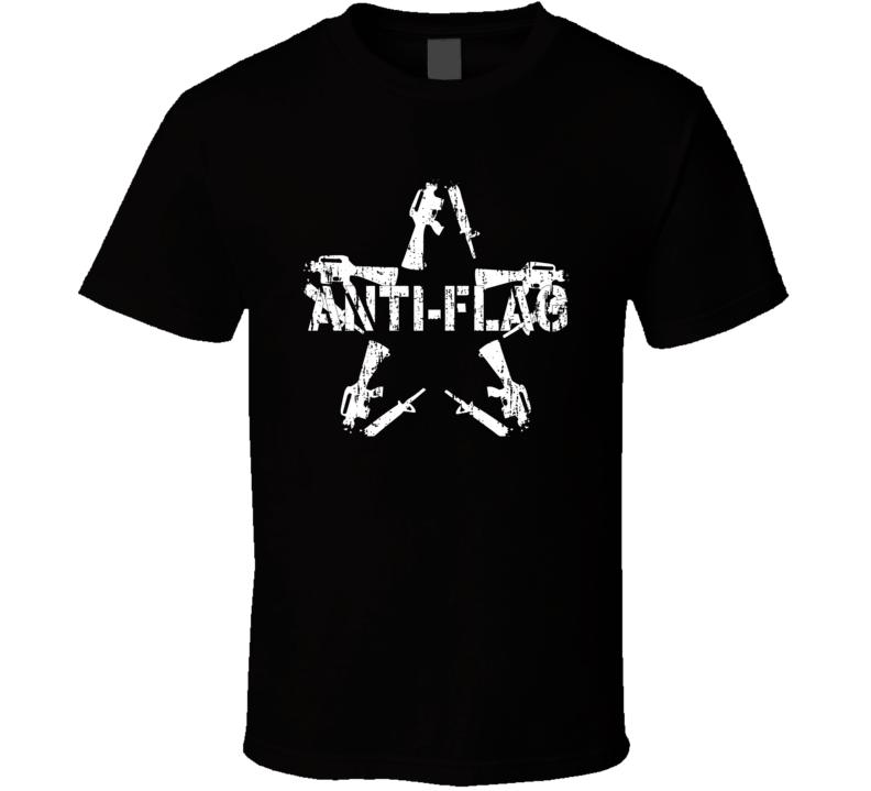 Anti-Flag Punk Rock Band Cool Worn Look Music T Shirt