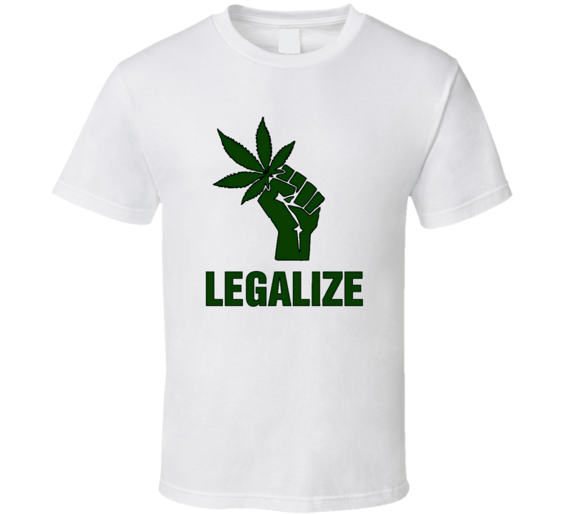 Legalize Cannabis Cool Free Da Weed Funny Worn Look T Shirt