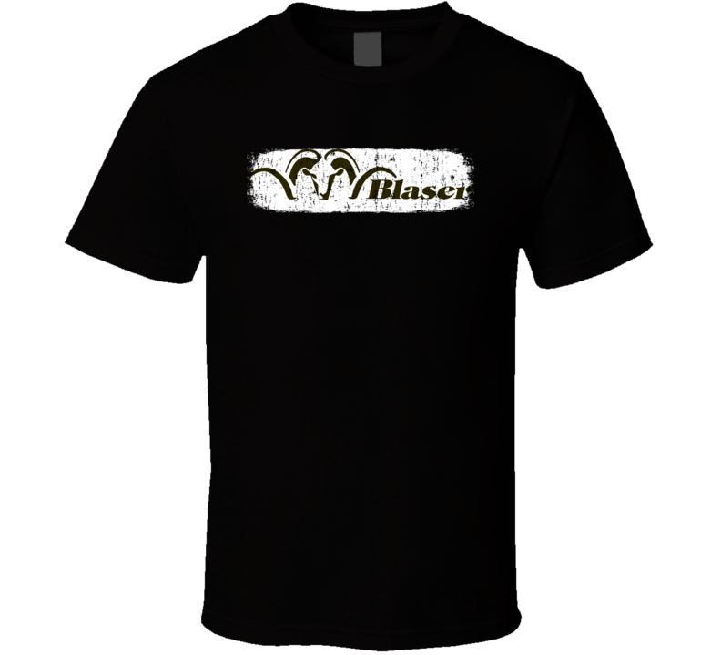 Blaser Fire Arm Hunter Rifle Fathers Day Worn Look Cool Gun T Shirt