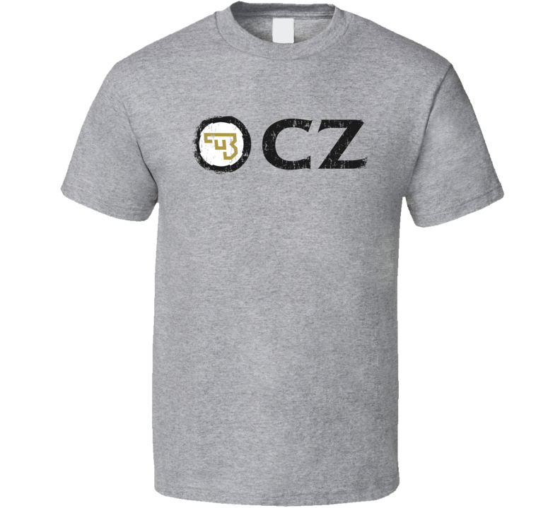 CZ Firearm Hunter Rifle Fathers Day Worn Look Cool Gun T Shirt