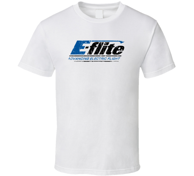 E-Flite RC Aircraft Cool Geek Worn Look T Shirt