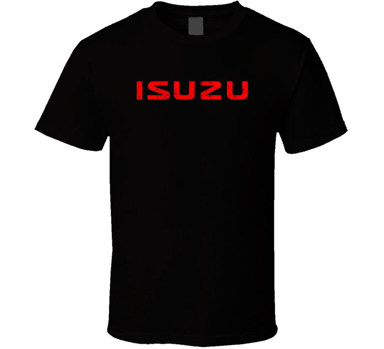 Isuzu Dump Truck Construction Worker Fathers Day Worn Look T Shirt