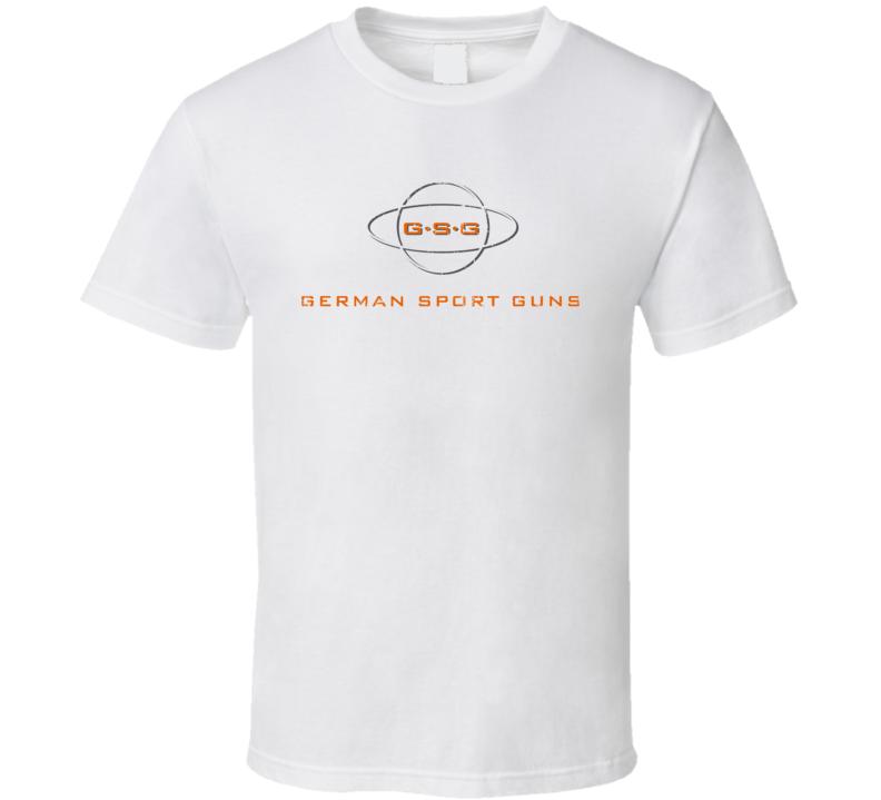 GSG Firearm Hunter Rifle Fathers Day Worn Look Cool Gun T Shirt