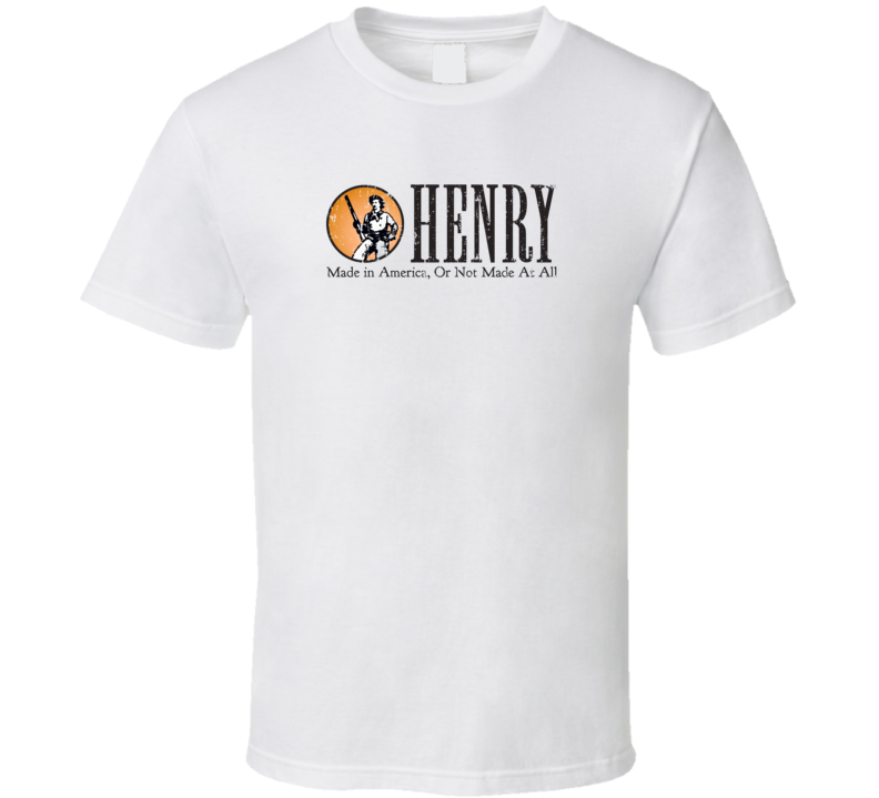 Henry Repeating Firearm Hunter Fathers Day Worn Look Cool Gun T Shirt