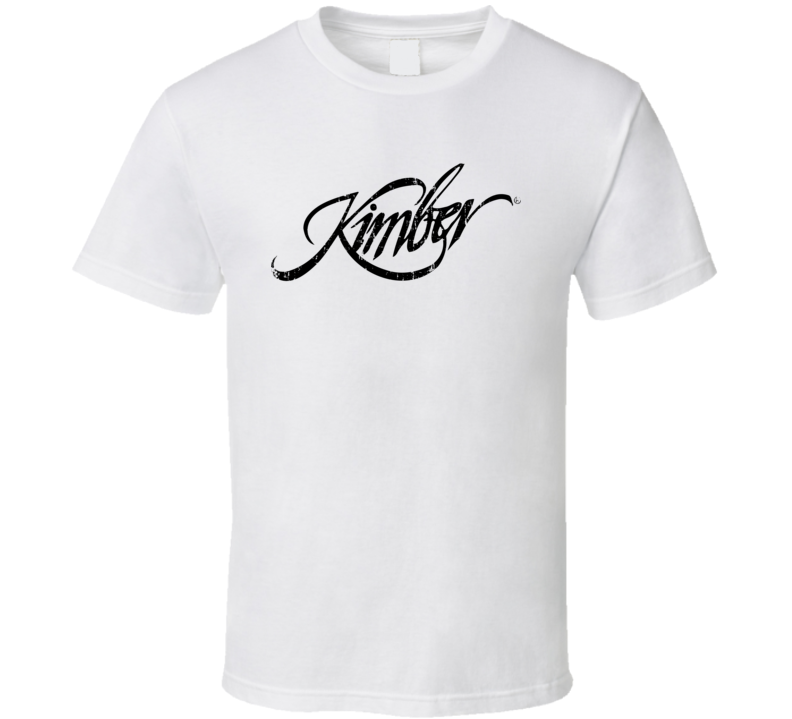 Kimber Firearm Hunter Rifle Fathers Day Worn Look Cool Gun T Shirt