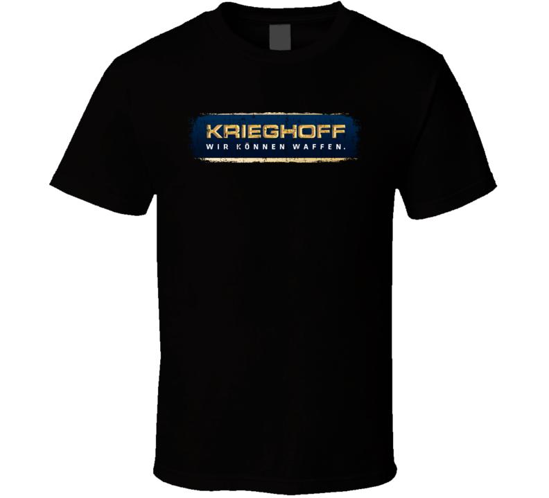 Krieghoff Firearm Hunter Rifle Fathers Day Worn Look Cool Gun T Shirt