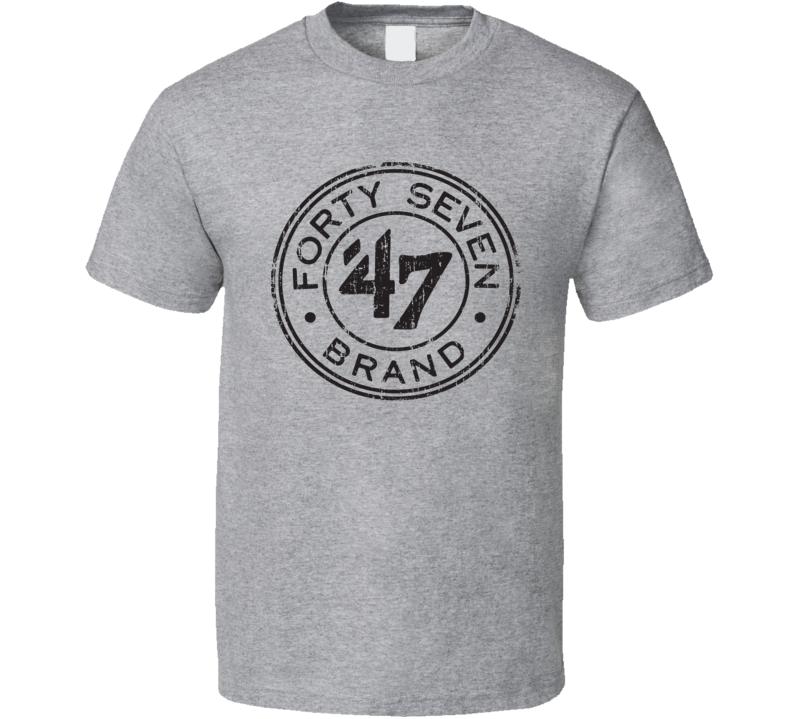 47 Baseball Sport Athletic Worn Look Basketball Cool T Shirt