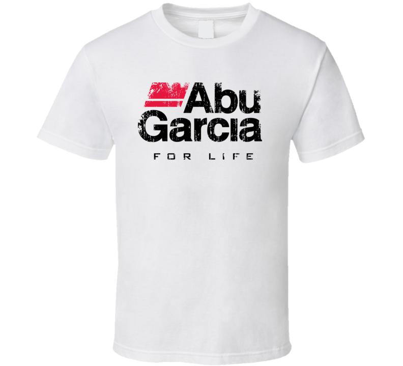 Abu Garcia Fishing Sport Worn Look Cool Fisherman T Shirt