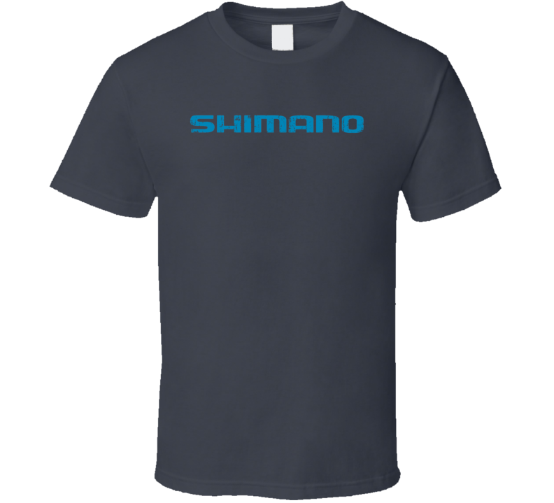Shimano Fishing Sport Athletic Worn Look Cool Fisherman T Shirt