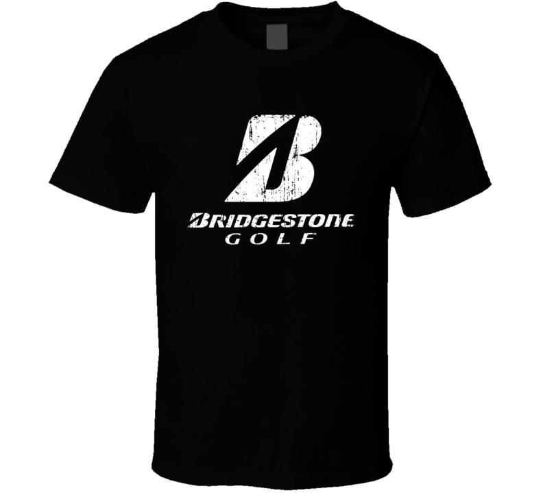 Bridgestone Golfing Sport Athletic Worn Look Golfer Cool T Shirt