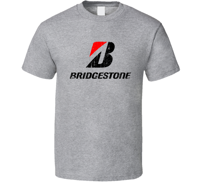 Bridgestone Golfing Sport Athletic Worn Look Golfer Cool T Shirt