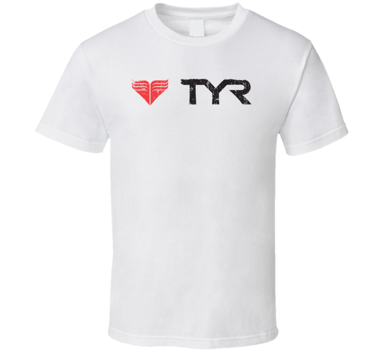 TYR Swimming Sport Athletic Worn Look Diving Cool T Shirt