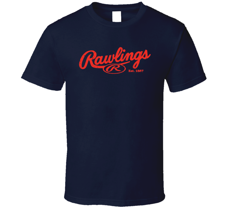 Rawlings Baseball Sport Athletic Worn Look Cool T Shirt