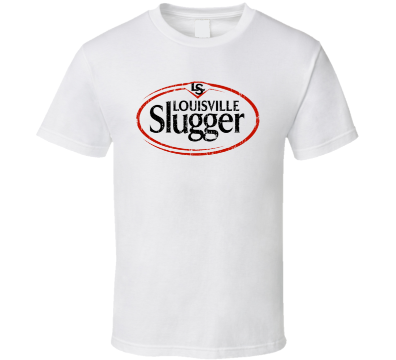 Louisville Slugger Baseball Sport Athletic Worn Look Cool T Shirt