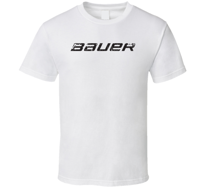 Bauer Hockey Sport Athletic Worn Look Cool T Shirt