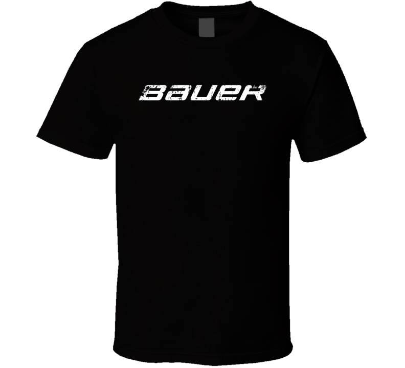 Bauer Hockey Sport Athletic Worn Look Cool T Shirt