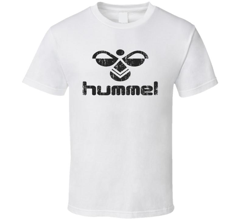 Hummel Football Sport Athletic Worn Look Cool T Shirt