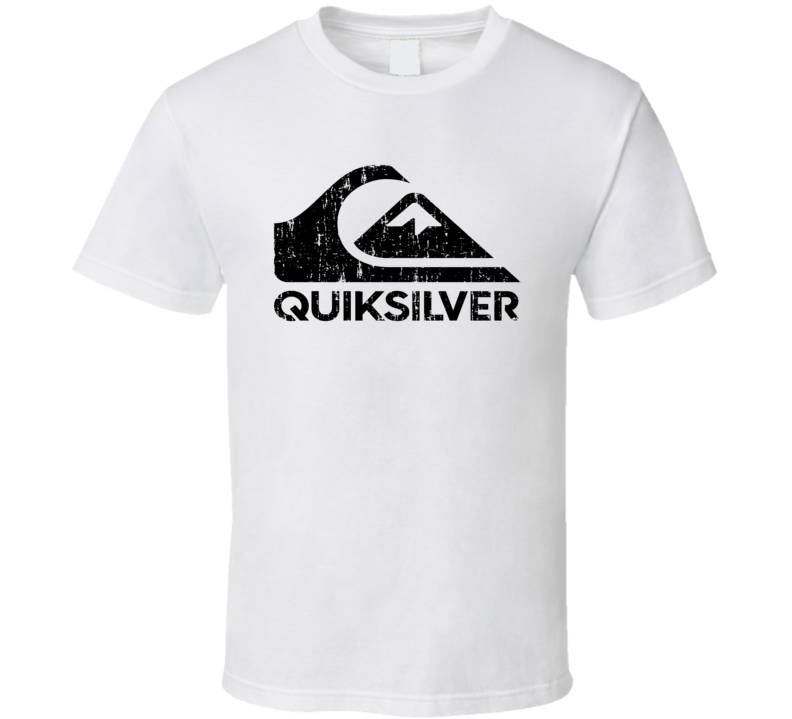Quiksilver Surfing Sport Athletic Worn Look Cool T Shirt