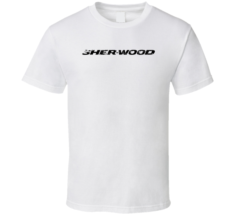 Sher-Wood Hockey Sport Athletic Worn Look Cool T Shirt