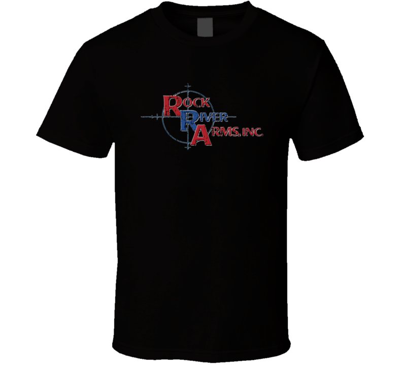 Rock River Firearm Hunter Rifle Fathers Day Worn Look Cool Gun T Shirt
