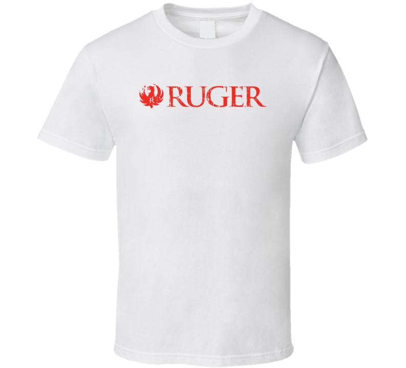 Ruger Firearm Hunter Rifle Fathers Day Worn Look Cool Gun T Shirt