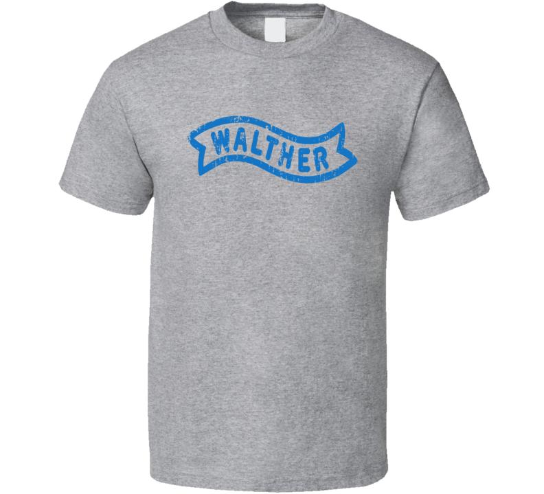 Walther Firearm Hunter Rifle Fathers Day Worn Look Cool Gun T Shirt