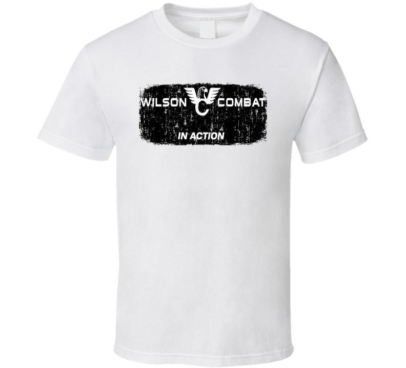 Wilson Combat Firearm HunteR Fathers Day Worn Look Cool Gun T Shirt