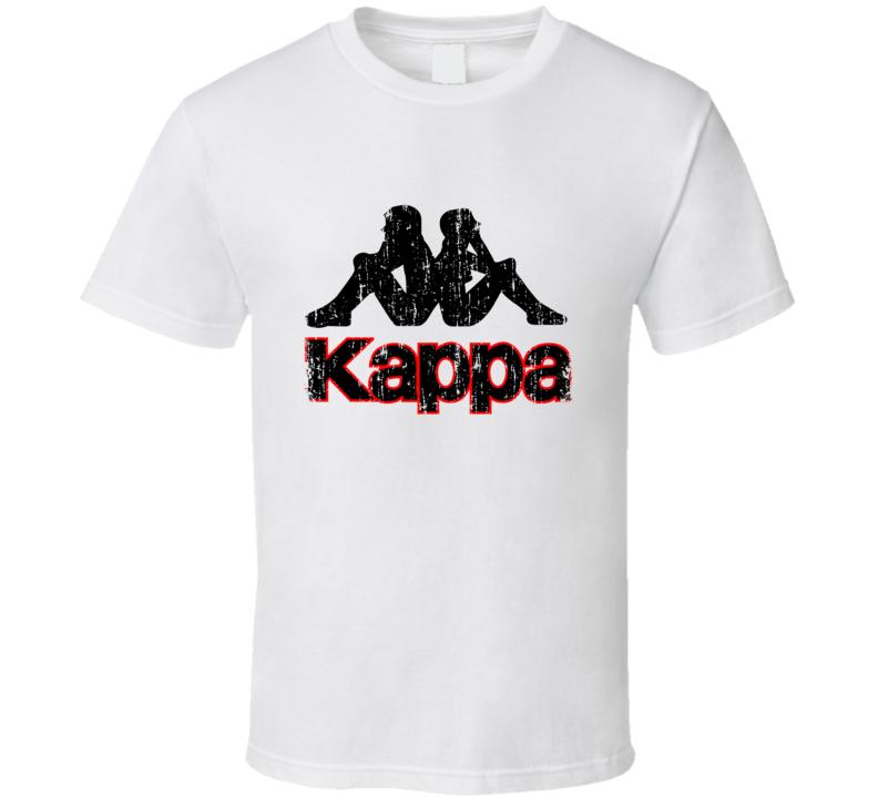 Kappa Soccer Sport Athletic Worn Look Cool T Shirt
