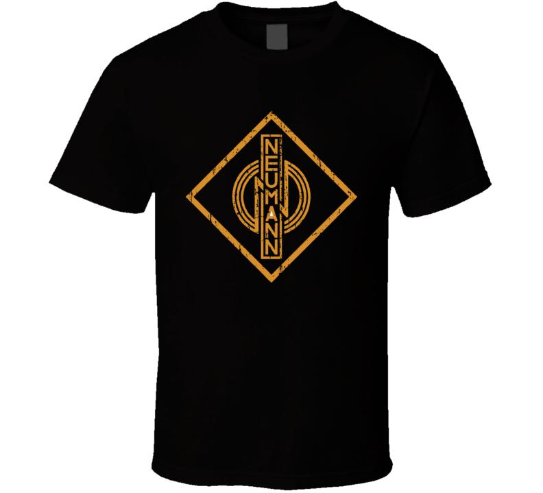 Neumann Microphone Musician DJ Cool Worn Look T Shirt