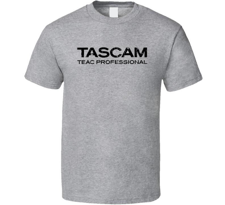 Tascam Microphone Musician DJ Cool Worn Look T Shirt