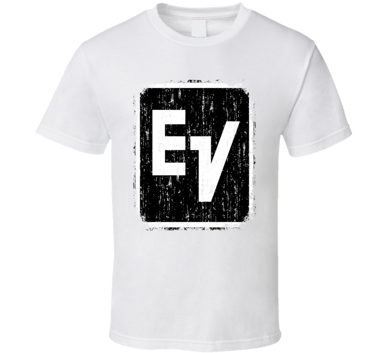 Electrovoice Microphone Musician DJ Cool Worn Look T Shirt